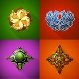 Различные установленные эмблемы Стоковые Изображения