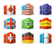 Различные флаги Стоковое Изображение
