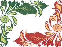 различные флористические 4 плитки картины орнаментов безшовных Стоковые Фото