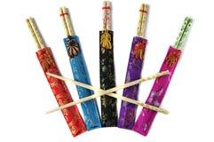 Различные цветастые китайские палочки стоковая фотография rf