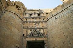 Различные части золотого форта Jaisalmer Стоковая Фотография RF