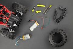 Различные части для контролируемых радио моделей Стоковые Изображения RF
