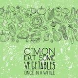 Различные чертежи овощей Стоковое Фото