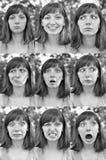 Различные эмоции стоковые изображения