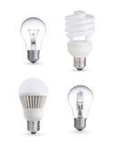 Различные электрические лампочки иллюстрация штока