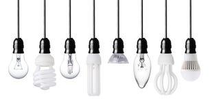Различные электрические лампочки Стоковые Фото