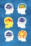 Различные люди психик Стоковое фото RF