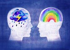 Различные люди психик Стоковое Изображение
