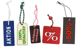 Различные ярлыки цены с текстом Стоковые Фотографии RF