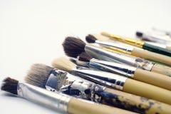 Различные paintbrushes на белой предпосылке Стоковое Изображение RF