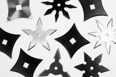 Различные shurikens Стоковое Изображение