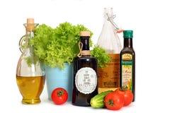 Различные tipes масла салата (мозоль и оливка) Стоковая Фотография RF