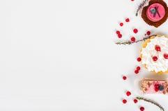 Различный вид красивого печенья, малая красочная помадка испечет Стоковые Изображения RF