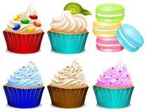 Различный вкус пирожных бесплатная иллюстрация