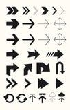 Различный комплект вектора стрелок Стрелки для знаков, вебсайтов, interfces потребителя Стоковое Фото