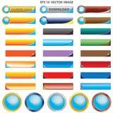 Различный комплект кнопки кожи металла Стоковое фото RF