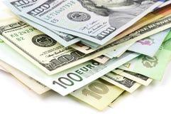 Различный конец-вверх валют Стоковая Фотография