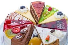 Различный конец-вверх кусков пирога Стоковые Изображения