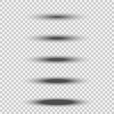 Различный прозрачный черный овальный комплект тени при мягкий край изолированный на белой предпосылке Элемент рассекателя вектора иллюстрация вектора
