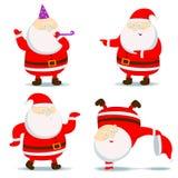 Различный Санта Клаус Иллюстрация вектора
