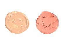 Различный составьте порошок, учреждение и цвет щеки составляет Стоковые Фото