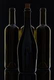 4 различных бутылки вина Стоковые Фото