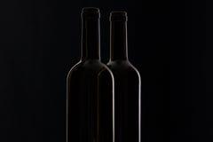 2 различных бутылки вина Стоковые Фото