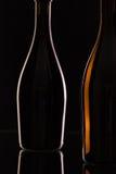 2 различных бутылки вина Стоковая Фотография RF
