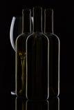 3 различных бутылки вина Стоковые Фотографии RF