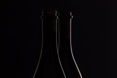 2 различных бутылки вина Стоковое фото RF