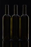3 различных бутылки вина Стоковая Фотография RF
