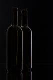2 различных бутылки вина Стоковая Фотография