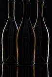 3 различных бутылки вина Стоковое фото RF