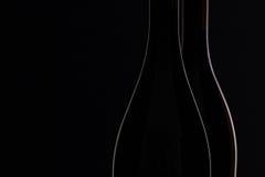 2 различных бутылки вина Стоковое Изображение