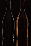2 различных бутылки вина Стоковое Изображение RF