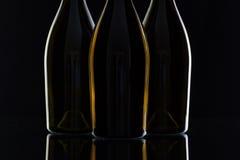 3 различных бутылки вина Стоковая Фотография