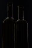 2 различных бутылки вина Стоковые Изображения RF