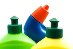 3 различных бутылки детержентного крупного плана Стоковые Изображения RF