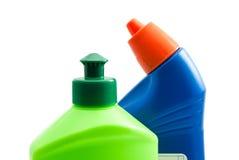 2 различных бутылки тензида на белизне Стоковое Фото