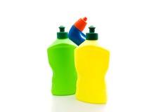 3 различных бутылки тензида Стоковые Фотографии RF