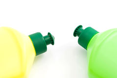 2 различных бутылки тензида Стоковые Изображения