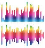 2 различных выравнивателя, графики EQ - вертикальные бары, прямоугольники Стоковая Фотография RF
