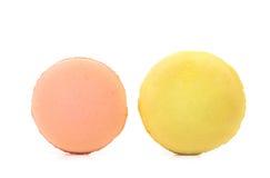 2 различных изолированного macarons Стоковое Изображение