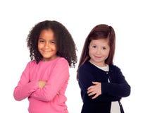 2 различных красивых девушки Стоковые Изображения RF