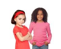 2 различных красивых маленькой девочки Стоковое фото RF