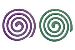 2 различных надушенных катушки москита Стоковая Фотография