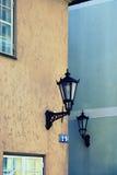 2 различных дома в Риге Стоковые Изображения RF