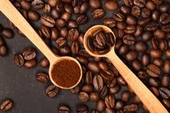 2 различных разнообразия кофе Стоковое Изображение RF