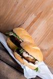 2 различных свежих вкусных бургера Стоковые Фотографии RF