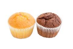 2 различных сладостных булочки на светлой предпосылке Стоковые Фото